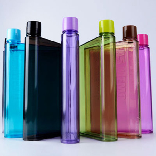 Square Memo Water Bottles Flat Paper Bottles